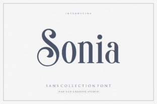 Print on Demand: Sonia Serif Font By HansCo