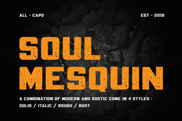 Print on Demand: Soul Mesquin Display Font By MuSan