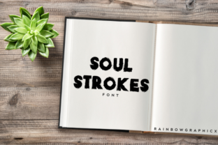 Print on Demand: Soul Strokes Slab Serif Font By RainbowGraphicx