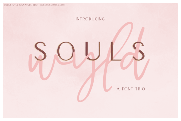 Print on Demand: Souls Wyld Font Trio Script & Handwritten Font By BeckMcCormick
