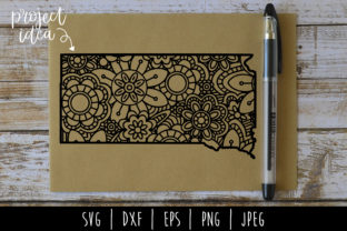 South Dakota State Mandala Zentangle Graphic By SavoringSurprises