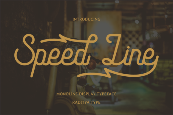 Print on Demand: Speed Line Script & Handwritten Font By RT Studio