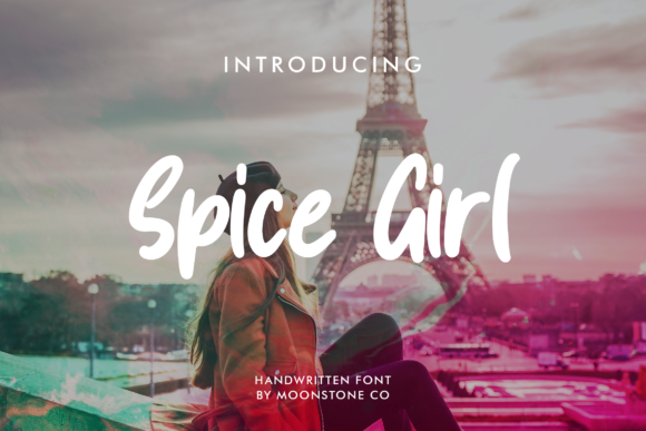 Print on Demand: Spice Girl Script & Handwritten Font By Moonstone Co