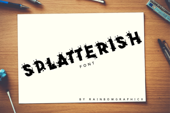 Print on Demand: Splatterish Display Font By RainbowGraphicx