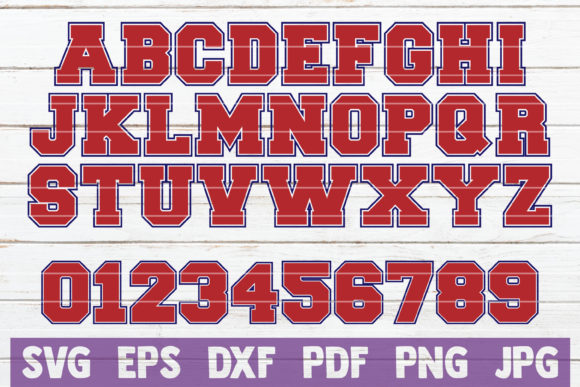 Download Free Sport Alphabet And Numbers Svg Graphic By Mintymarshmallows for Cricut Explore, Silhouette and other cutting machines.