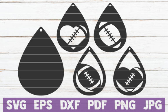 Sport Earrings SVG Bundle   Cut Files Graphic Graphic Templates By MintyMarshmallows - Image 4