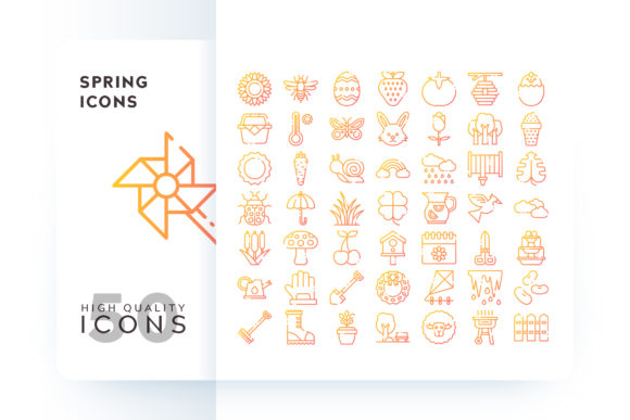 Spring Icons Graphic By Goodware.Std