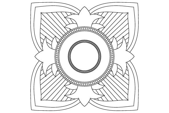 Download Free Square Mandala Coloring Vector Graphic By Graphicsfarm for Cricut Explore, Silhouette and other cutting machines.