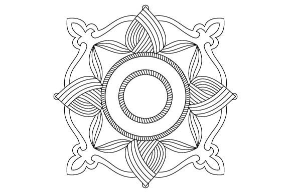 Print on Demand: Square Mandala Design Vector Element Graphic Illustrations By GraphicsFarm