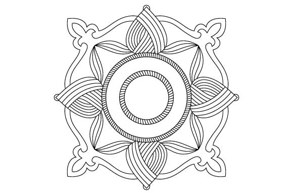 Download Free Square Mandala Design Vector Element Graphic By Graphicsfarm Creative Fabrica for Cricut Explore, Silhouette and other cutting machines.