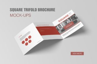 Square Trifold Brochure Mockups Graphic By graphiccrew