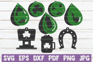 Download Free St Patrick S Day Earrings Svg Cut Files Graphic By for Cricut Explore, Silhouette and other cutting machines.