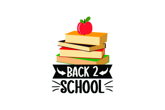 Download Free Stack Of Books With Apple On Top Back To School Svg Cut File for Cricut Explore, Silhouette and other cutting machines.