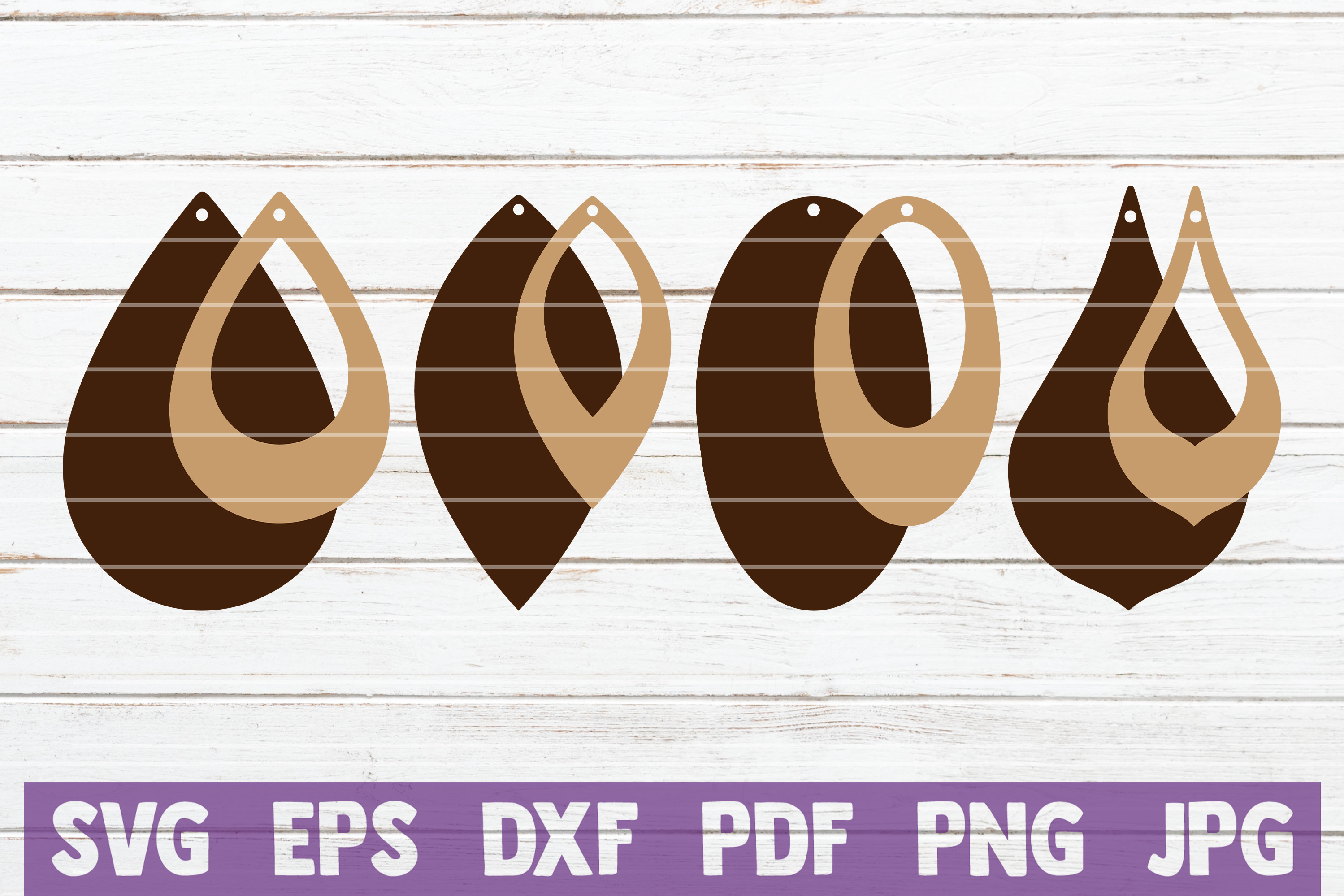 Download Free Stacked Earrings Cut Files Graphic By Mintymarshmallows for Cricut Explore, Silhouette and other cutting machines.
