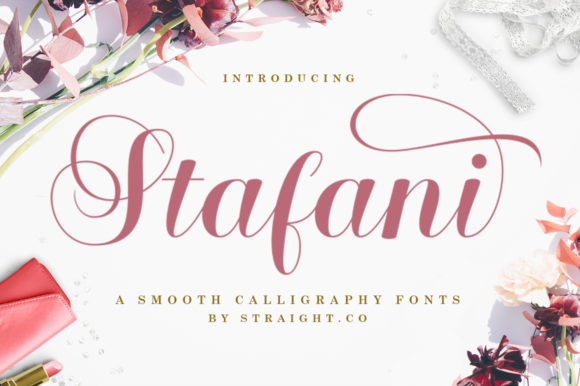 Print on Demand: Stafani Script & Handwritten Font By STRAIGHT.CO