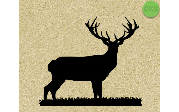Download Free Stag Antlers Graphic By Crafteroks Creative Fabrica for Cricut Explore, Silhouette and other cutting machines.