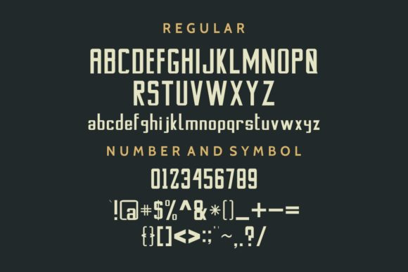 Stanwick Font Preview
