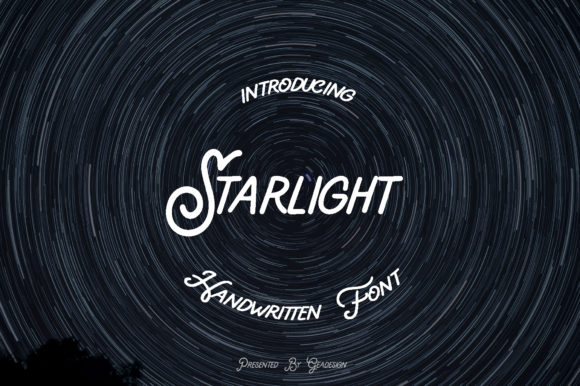 Print on Demand: Starlight Script & Handwritten Font By geadesign