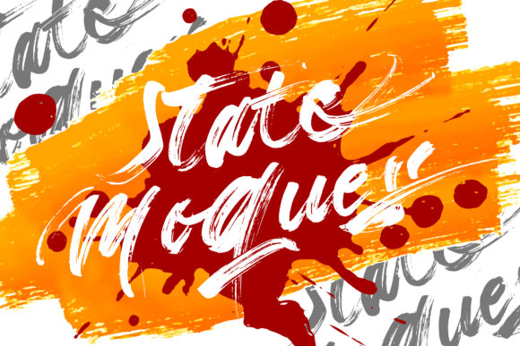 Print on Demand: State Moques Script & Handwritten Font By Vunira