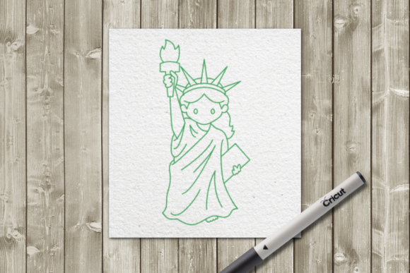 Statue of Liberty Line Drawing Graphic Crafts By DesignedByGeeks
