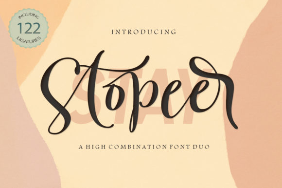 Print on Demand: Stay Stopeer Duo Script & Handwritten Font By Picatype Studio