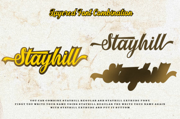 Print on Demand: Stayhill Script & Handwritten Font By letterfreshstudio - Image 6