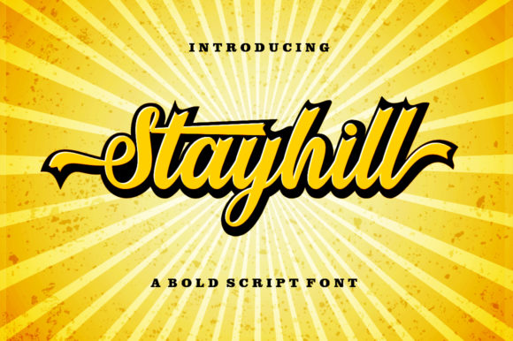 Print on Demand: Stayhill Script & Handwritten Font By letterfreshstudio