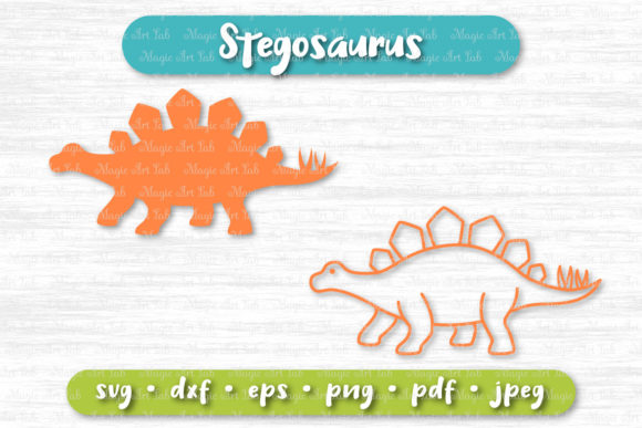 Stegosaurus Cut File Graphic Crafts By MagicArtLab