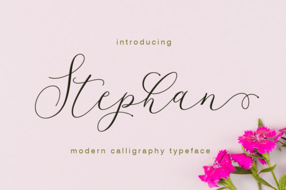 Print on Demand: Stephan Script & Handwritten Font By Rudistudio