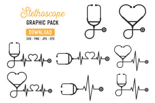 Stethoscope Vector Graphic Pack Graphic By The Gradient Fox
