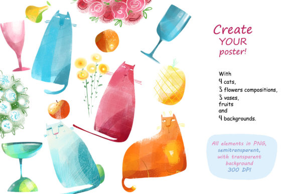 Print on Demand: Still Life with a Cat - Poster Creator Graphic Illustrations By Zooza Art - Image 2