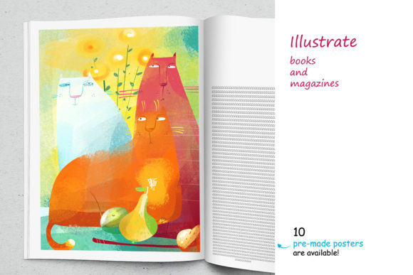 Print on Demand: Still Life with a Cat - Poster Creator Graphic Illustrations By Zooza Art - Image 8