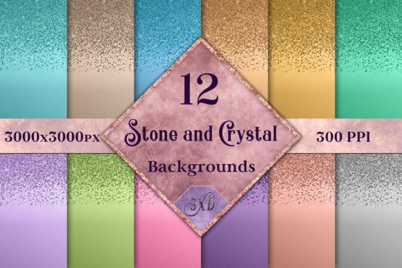 Print on Demand: Stone and Crystal Backgrounds Graphic Backgrounds By SapphireXDesigns - Image 1