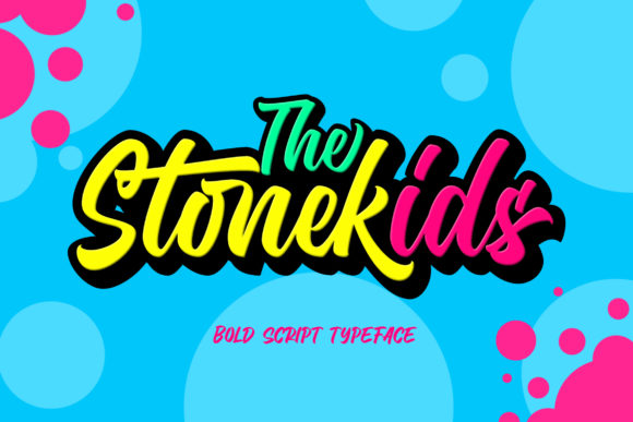 Print on Demand: Stonekids Script & Handwritten Font By Blankids Studio
