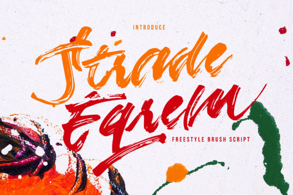 Print on Demand: Strade Eqrem Script & Handwritten Font By Vunira - Image 1