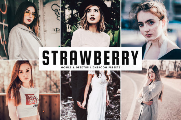 Print on Demand: Strawberry Lightroom Presets Pack Graphic Actions & Presets By Creative Tacos