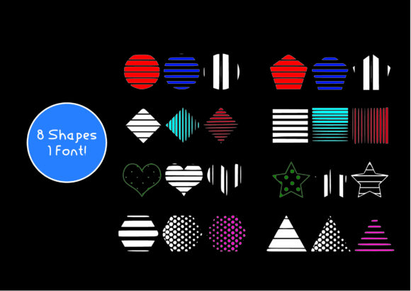 Print on Demand: Strips & Spots Dingbats Font By GraphicsBam Fonts - Image 2