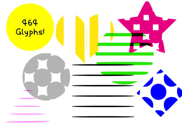 Print on Demand: Strips & Spots Dingbats Font By GraphicsBam Fonts - Image 3