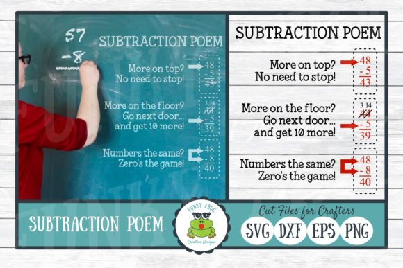Subtraction Poem Graphic By Funkyfrogcreativedesigns Creative