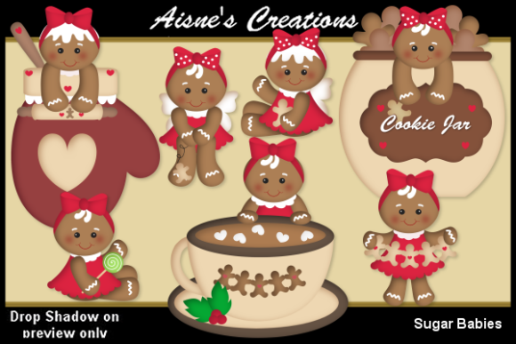 Download Free Sugar Babies Graphic By Aisne Creative Fabrica for Cricut Explore, Silhouette and other cutting machines.