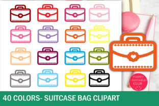Suitcase Clipart-Bag Clipart-Girl Bag Graphic By Happy Printables Club