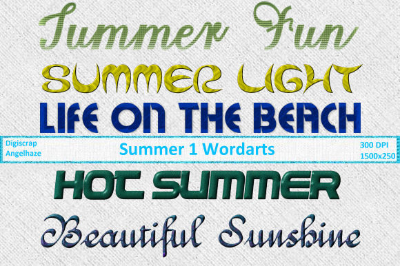 Summer 1 Wordarts Graphic By Digiscrap Angelhaze