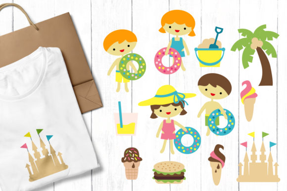 Print on Demand: Summer Beach Party Graphic Illustrations By Revidevi