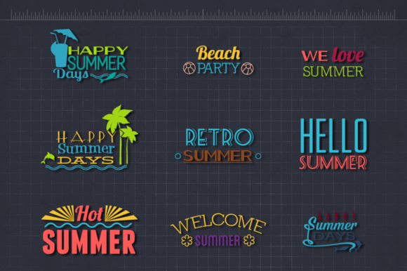 Download Free Summer Beach Quotes Bundle Graphic By Craft N Cuts Creative for Cricut Explore, Silhouette and other cutting machines.