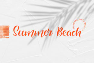 Summer Beach Font By Happy Letters