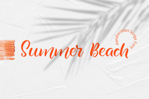Summer Beach Script & Handwritten Font By Happy Letters
