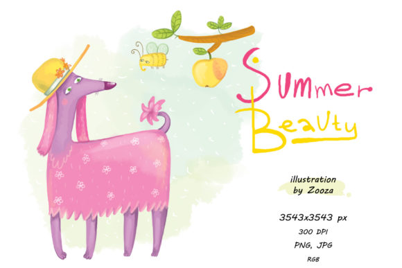 Print on Demand: Summer Beauty Graphic Illustrations By Zooza Art - Image 1