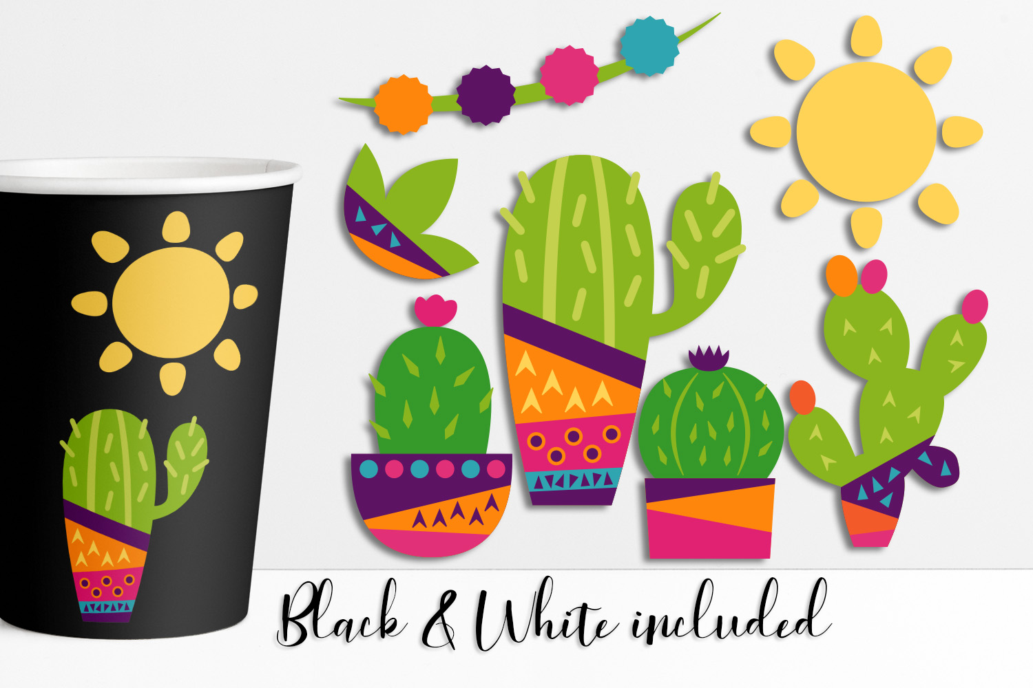 Download Free Summer Cactus Graphic By Darrakadisha Creative Fabrica for Cricut Explore, Silhouette and other cutting machines.