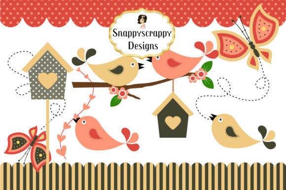 Summer Crush Bird Clipart Set Graphic Illustrations By Snappyscrappy - Image 1