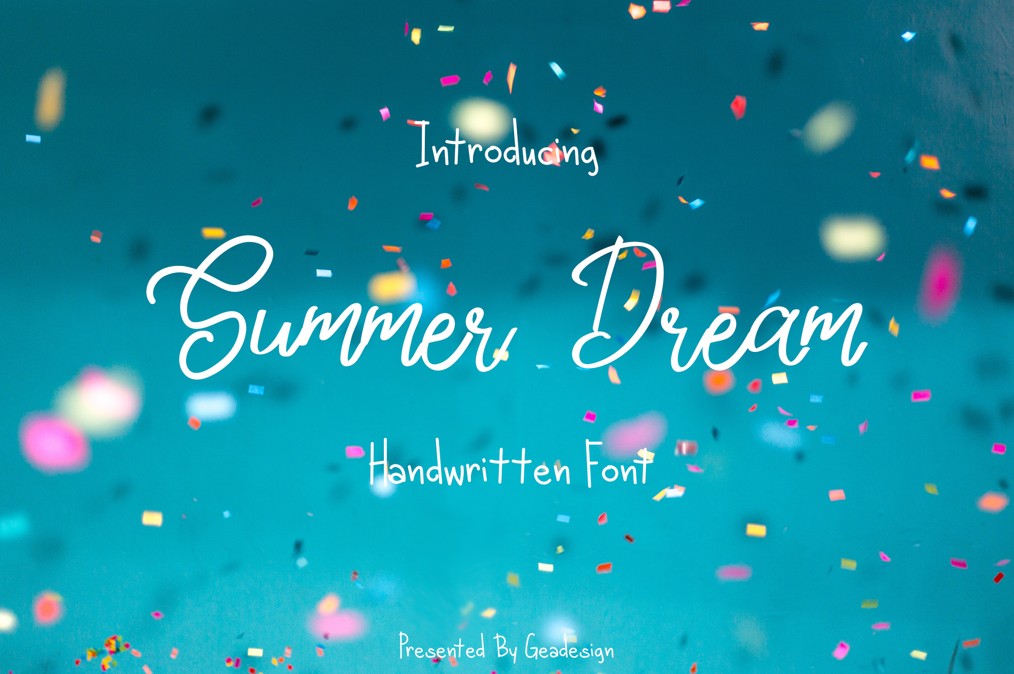 Download Free Summer Dream Font By Geadesign Creative Fabrica for Cricut Explore, Silhouette and other cutting machines.